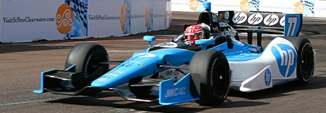 Simon Pagenaud was quickest in practice in his Dallara-Honda. (James Fish/The Epoch Times)