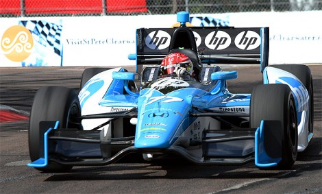 Simon Pagenaud has consistently been the best-performing Honda-powered driver. (James Fish/The Epoch Times)