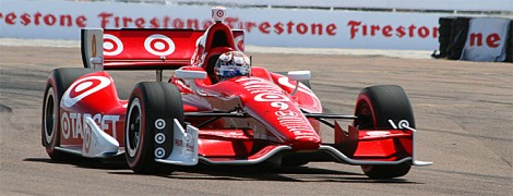 Scott Dixon was quite quick in his Chevy-engined Dallara. (James Fish/The Epoch Times)