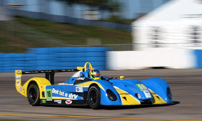 Tristan Nunez has three wins, three speed records, and leads the IMSA Prototypes Lites championship—at age 16. (James Fish/The Epoch Times)