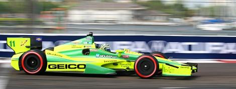 Tony Kanaan's KV Racing Dallara is Chevy-powered. (James Fish/The Epoch Times)