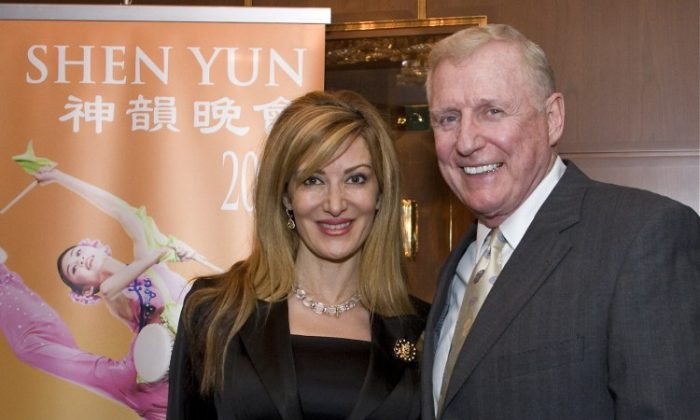 Congressman Dan Burton and his wife attend Shen Yun Performing Arts in Washington's Kennedy Center, on Wednesday evening. (Lisa Fan/The Epoch Times)