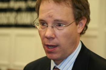 Scott Flipes, Asia Senior Analyst from the U.S. Commission forInternational Religious Freedom. (Gary Feuerberg/Epoch Times)