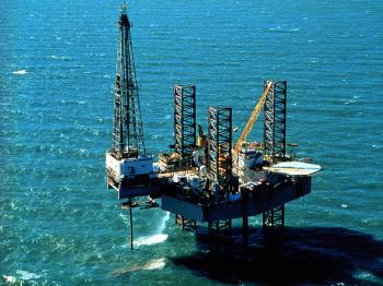 Pennzenergy Company Oil Exploration Drilling Rig, Ship Shoal 150, In The Gulf Of Mexico. (Archival Photo By Getty Images)
