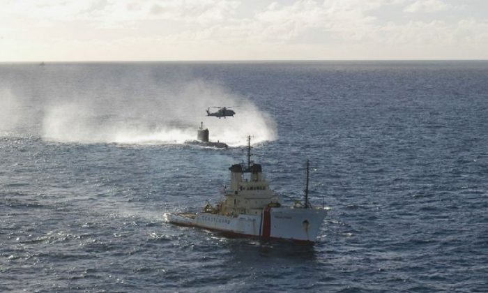 The HMS Montrose in October 2004. (Photo by the RAF via Getty Images)