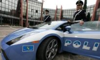 A Jewel of the Italian Police Force in for Repairs