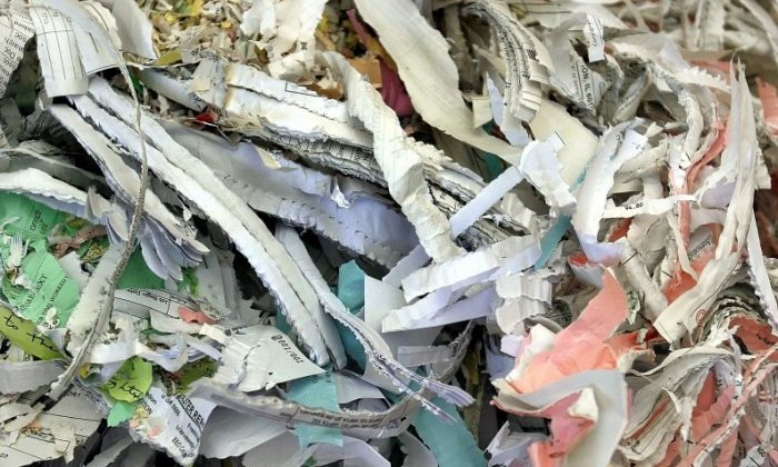 Shredded documents. The shredding of documents containing personalized information is an effective way to prevent identity theft. (Tim Boyle/Getty Images)