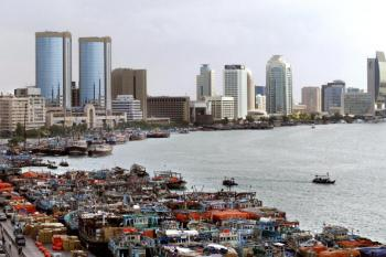 A general view of Dubai and its port. (Rabih Moghrabi/AFP/Getty Images)