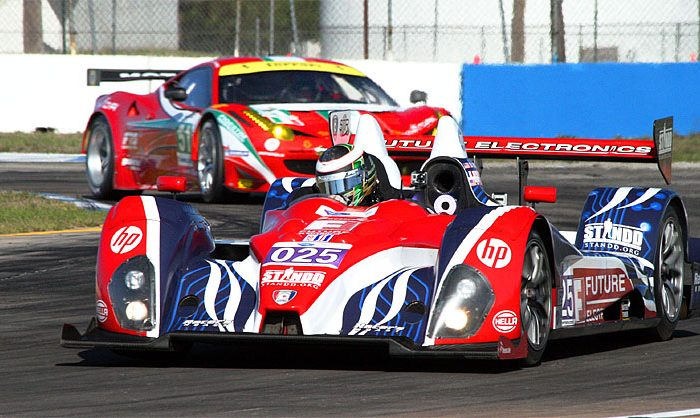 Dempsey Racing might be augmenting its PC car (seen here at Sebring) with its new P2 Lola -Judd coupe at American Le Mans Series Monterey. (James Fish/The Epoch Times)