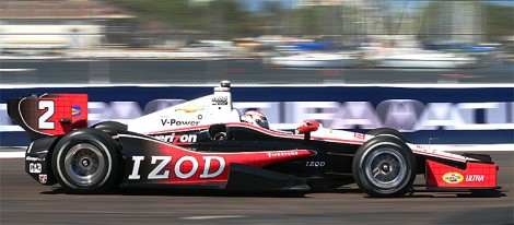 Ryan Briscoe won Penske Racing its third pole in three races, but will start from 11th due to the penalty. (James Fish/The Epoch Times)