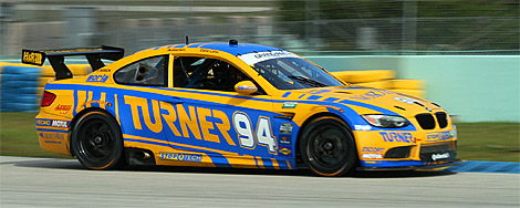 Defending double-champion Bill Auberlen was not far off the pace in the #94 Turner BMW. (Chris Jasurek/The Epoch Times)