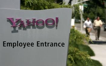 Yahoo Layoffs: the Yahoo emplyees' entrance is seen in front of the Yahoo! headquarters Sunnyvale, California. The company recently announced that it will cut 4 percent of its total employees. (Justin Sullivan/Getty Images)