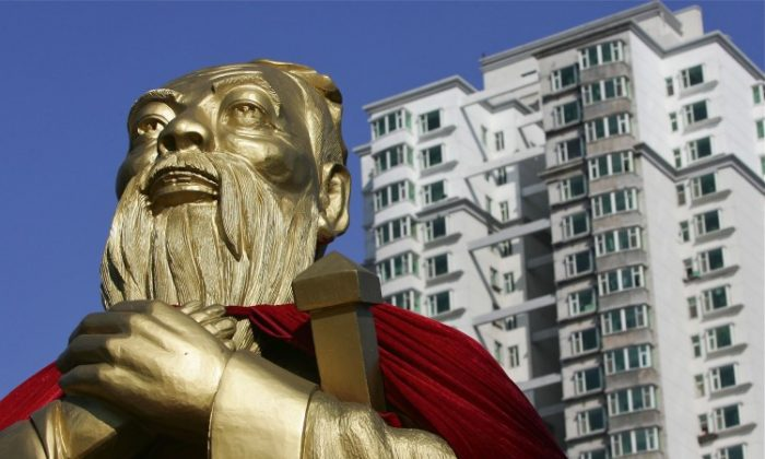 A statue of Confucius in Changchun, China. (China Photos/Getty Images)