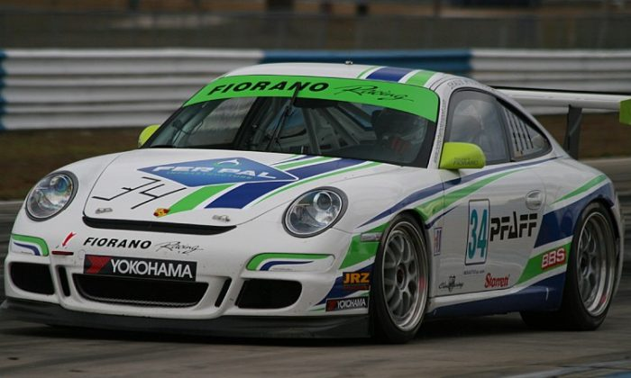 Gloomy skies didn't slow the cars on Day Two of the ALMS Winter Test at Sebring International Raceway. (James Fish/The Epoch Times)