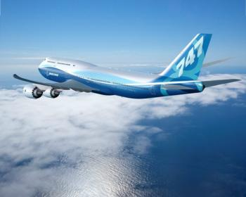 The Freight version of the 747-8 is the only airplane of jumbo freight airliners, after Airbus suspends its A380 freight version in 2007.  (Courtesy of Boeing Corporation)