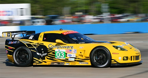 Jan Magnussen qualified the #03 Corvette third in GTE and fastest of the ALMS GTEs. (James Fish/The Epoch Times)