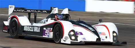 The Muscle Milk PC Oreca of Guasch, Gidley and Hamilton wants another podium finish. (James Fish/Epoch Times Staff)