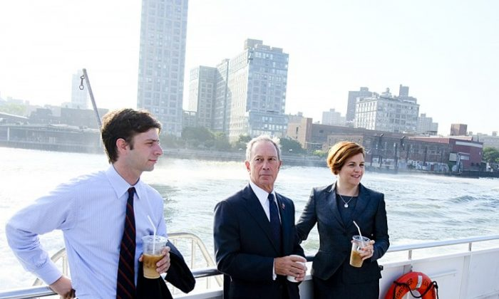 Mayor Michael Bloomberg and City Council Speaker Christine Quinn announced on Monday the East River Ferry had served 1 million passengers in just over a year, and greeted ferry riders. (Edward Reed)
