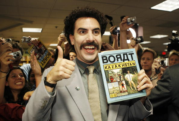 Borat Sagdiyev, played by actor Saha Baron Cohen, in 2007. (Vince Bucci/Getty Images)