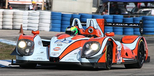 Olivier Pla's Morgan-Judd was fast before the wreck and fastest in class after it. (James Fish/The Epoch Times)