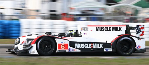 Klaus Graf was fastest of the ALMS P1 cars in the brand-new Muscle Milk Pickett Racing HPD ARX-03a. (James Fish/The Epoch Times)