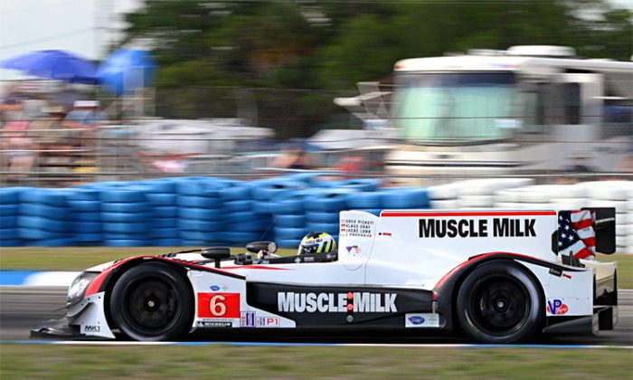 Klaus Graf drives the Muscle Milk Pickett Racing HPD ARX-03a at Sebring. The team hopes to get its first 2012 ALMS win at Long Beach this weekend. (James Fish/Epoch Times Staff)