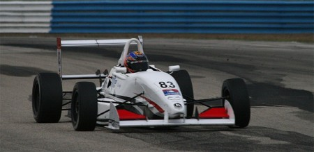 Matthew Brabham won the final USF 2000 race of the Cooper Tires Winterfest. (James Fish/The Epoch Times)