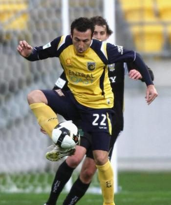 Sasho Petrovski of the Central Coast Mariners controls the ball during the 2008 A-League Pre-Season Cup match against the Wellington Phoenix at Westpac Stadium in Wellington, New Zealand.  (Marty Melville/Getty Images)