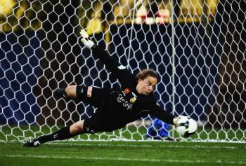 Once upon a time arguably the best goalkeeper in the English Premier League�Mark Bosnich returned to the pitch for the Central Coast Mariners last weekend. (Brendon Thorne/Getty Images)