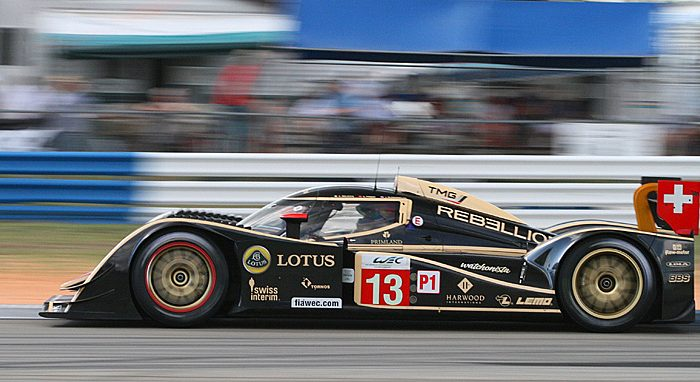 2011 ALMS champs Dyson Racing debuted its 2012 Lola at Sebring. (James Fish/Epoch Times Staff)