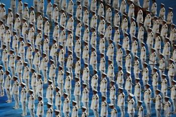 Part of the Closing Ceremony for the Beijing 2008 Olympic Games. (Clive Rose/Getty Images)