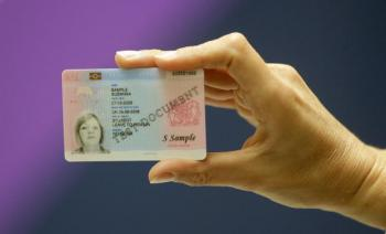 Identity Cards, to be scrapped by the new UK coalition government, were issued in November 2008 to non-European foreign nationals resident in the UK. They feature the holder's name, date of birth, photograph, fingerprint record and other biometric data. (Shaun Curry/AFP/Getty Images)