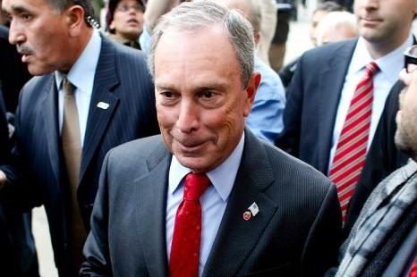 Mayor Michael Bloomberg outside of City Hall. (Spencer Platt/Getty Images)