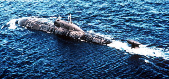 This undated picture shows a Russian nuclear submarine Akula-class (Shark) by NATO classification. Both the Pentagon and the Navy have denied that a Russian submarine entered the Gulf of Mexico undetected in June and July. (AFP/Getty Images)