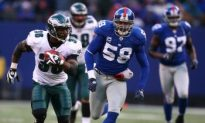 Uninspired Giants Lose to Eagles