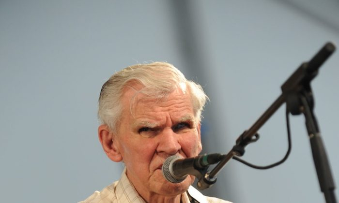 Recording Artist Doc Watson performs at the 2009 New Orleans Jazz & Heritage Festival at the Fair Grounds Race Course on May 1, 2009. (Rick Diamond/Getty Images)
