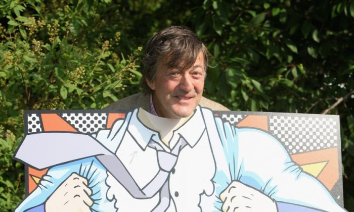 Comedian Stephen Fry launches a campaign 'Get It Off Your Chest' to encourage men to seek help for mental health problems in 2009 in London. (Tim Whitby/Getty Images)