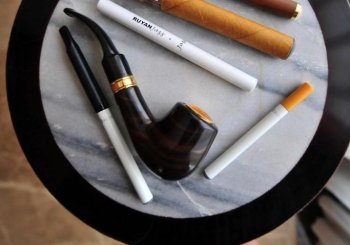 Smoking devices are seen in Beiijng on May 25, 2009.  (Frederic J. Brown/AFP/Getty Images)