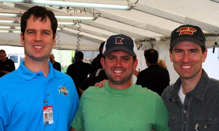 The Downs brothers: Lucas, Antonio, and Matt (Chris Jasurek/The Epoch Times)