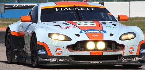 Darren Turner gave Aston Martin the GT pole, .43 seconds ahead of the rest. (James Fish/The Epoch Times)