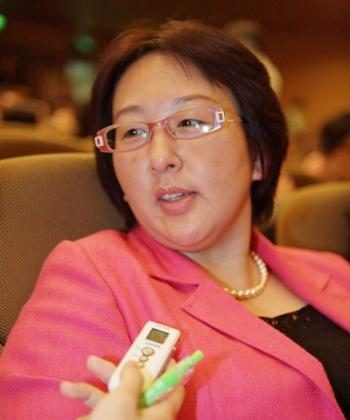 Ms. Zhou Shue, founding president of the Hsinchu Female Club of Kiwanis International (Song Bilong/ The Epoch Times)