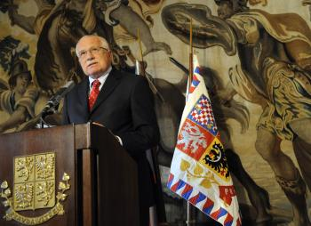 Czech President Vaclav Klaus won the opt-out of the Charter of Fundamental Rights. His signature will end the ratification process of the Lisbon Treaty, equivalent of the European Constitution. (Michal Cizek/AFP/Getty Images)