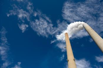 The smoke stacks of a coal power plant in New Haven, West Virginia, on Oct. 30, 2009.  (Saul Loeb/AFP/Getty Images)