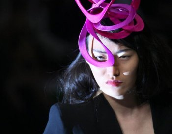South Korean model Daul Kim wearing a creation by British designer Alexander Mcqueen. Ms Kim was found dead in her Paris apartment on November 19, 2009. Authorities believe she committed suicide. (Francois Guillot/AFP/Getty Images)