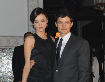 Miranda Kerr and Orlando Bloom at the Mamounia hotel inauguration on November 26, 2009 in Marrakech, Morocco. The couple was announced wed by David Jones spokesperson on July 23. (Pascal Le Segretain/Getty Images)