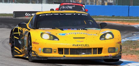Olly Gaving and Tom Milneer took their second win in a row; Corvette finished 1–2. (James Fish/The Epoch Times)