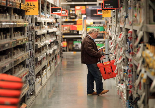 Big stores like Asda, Tesco, Ikea and DIY stores, like this B&Q store in Hayes, England, will be able to open for longer hours on Sundays during the eight weeks of the Olympics if the Chancellor's proposal is made law. (Peter Macdiarmid/Getty Images)