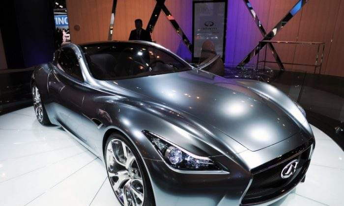 The Infiniti Essence concept car, introduced at the New York International Auto Show March 31, 2010 in New York. (Stan Honda/AFP/Getty Images)