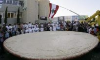 Hummus World Record: 12 Tons of Hummus in a Satellite Dish