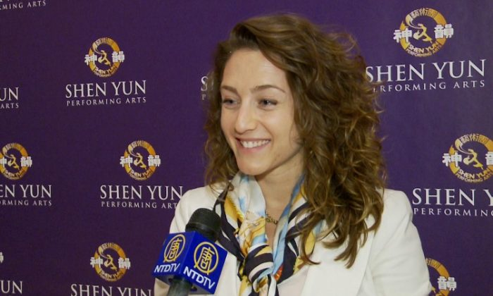 Filmmaker, author, and human rights attorney Brooke Goldstein after seeing Shen Yun on Friday at Lincoln Center (Courtesy of NTD Television)